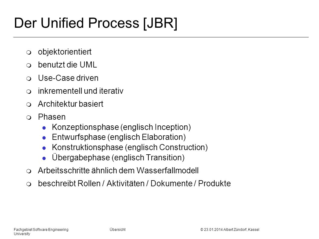 Der Unified Process [JBR]
